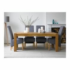 Schreiber Woburn Table & 4 Charcoal Chairs from Homebase.co.uk