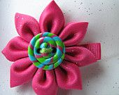Flower Hair Clip Vintage Shabby Chic by Sweetlittleblossoms