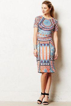 ebb86d86 Anthropologie Chanda Column Dress Sz XXSP & SP, Printed & Fitted,  Pankaj