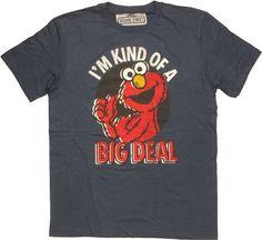 Sesame Street Elmo Big Deal T-Shirt Sheer  http://www.beststreetstyle.com/sesame-street-elmo-big-deal-t-shirt-sheer/