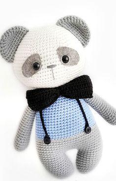 Nice and Beauty Amigurumi Ideas – Page 26 of 55 : Nice and Beauty Amigu… – Modalbox Easy Crochet Animals, Crochet Panda, Crochet Animal Patterns, Crochet Doll Pattern, Stuffed Animal Patterns, Crochet Patterns Amigurumi, Amigurumi Doll, Crochet Dolls, Crochet Baby