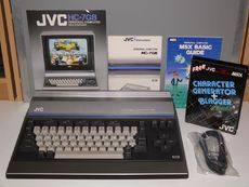 "The JVC is the Victor localised for the Great Britain market and features a ""international"" keyboard with a £ key. It seems to be the same as the JVC except for the power supply instead of Retro Arcade Machine, Retro Games, Electronic Devices, Old Tv, Tv On The Radio, Computer Keyboard, Computers, Canada, Electronics"