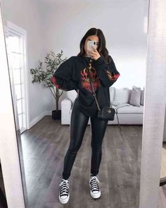 Winter Fashion Outfits, Edgy Outfits, Cute Casual Outfits, Look Fashion, Fall Outfits, Mode Inspiration, Everyday Outfits, Aesthetic Clothes, Aesthetic Anime