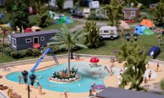 Parc aquatique au camping, Mini World Lyon