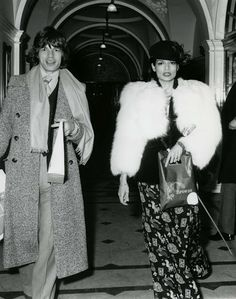 Bianca Jagger and Mick Jagger - Dating, Gossip, News, Photos Bianca Jagger, Mick Jagger, American Apparel, 70s Fashion, Vintage Fashion, Vintage Style, Classy Fashion, Fashion History, Runway Fashion