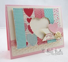Hearts a Flutter Stampin' Up Valentine's Card