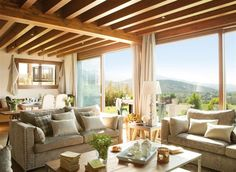 Renovated Home in Spain | Inspiring Interiors - love the large windows, beautiful view!