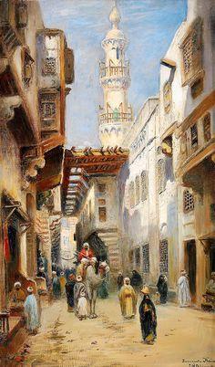 odelmark frans wilhelm 05 (from ) Old Egypt, Cairo Egypt, City Landscape, Fantasy Landscape, Carl Spitzweg, Mediterranean Art, Arabian Art, Islamic Paintings, Academic Art