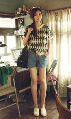 love pretty light hand knit blouse