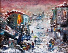 "Georgian Artists Giorgi Kukhalashvili  ""Pink snow"""