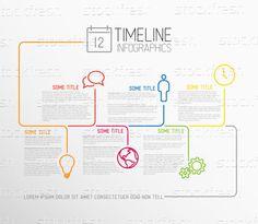 信息圖表 · 時間軸 · 報告 · 模板 · 線 · 向量 - 插圖 © Petr Vaclavek (orson) (#4325950) | Stockfresh