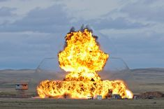 Example of an explosives trial conducted on the Experimental Proving Ground (EPG), a piece of land over 470 square kilometres at Defence Research and Development Canada – Suffield Research Centre.  The EPG is an invaluable resource for the safety and protection of the Canadian Armed Forces by providing a place to conduct realistic training in the defence against deadly threat agents and explosives.
