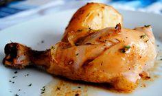 Baked lemon chicken Garlic and thyme - Pollo al horno con limón Ajo y Tomillo - Receta Light