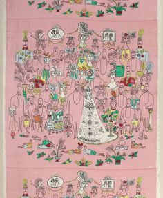 "Textile, ""The Wedding"", 1950. cooper-hewitt design museum (poss. scarf print?)"