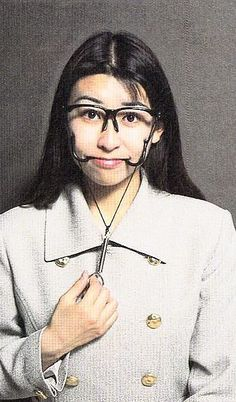 Having to smile and appear polite constantly is so exhausting! Thankfully, this helpful chindogu has been invented to come to the rescue! The Smile Forcer Glasses will help you keep a pleasant social convention even when you don't mean it! Useless Inventions, Japanese Inventions, Crazy Inventions, Media Quotes, Work Quotes, Change Quotes, Attitude Quotes, Quotes Quotes, Invention Convention
