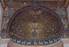12th century apse mosaic from Basilica di San Clemente in Rome.