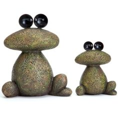 Whimsical Garden Statues Home Decor Resting Frogs Stone Sculpture Lawn Ornament - Modern Stone Sculpture, Sculpture Art, Sculptures, Sculpture Garden, Stone Crafts, Rock Crafts, Garden Frogs, Rock Flowers, Rock And Pebbles