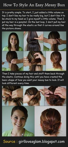 How To Style An Easy Messy Bun | Pinterest Tutorials