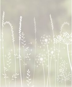 Paper Meadows Edge window film by Hannah Nunn, only available at The Window Film Company. White print on frosted window film, for privacy & style at home Etched Glass Door, Sliding Glass Door, Glass Doors, Bath Window, Window Art, Window Design, Door Design, Frosted Window Film, Living Room Partition