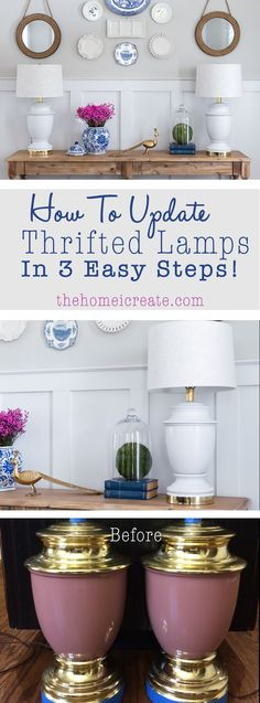 How to update thrifted lamps in 3 easy steps! | thehomeicreate.com