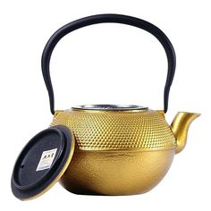 Gold Tea Kettle Handmade Health Teapot Gold Particle Cast Iron Tea Pot Tea Pot Metal Kate Spade Gold Teapot