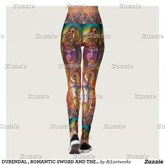 DURENDAL , ROMANTIC SWORD AND THE ANGEL Fantasy Leggings #fashion #fineart #fantasy #clothing #swords #magic #angels