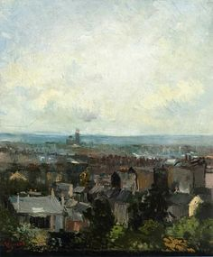 Art of the Day: Van Gogh, Rooftops in Paris, Spring 1886. Oil on canvas, 45.6 x 38.5 cm. National Gallery of Ireland, Dublin.