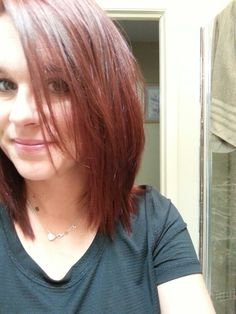 New hair color for fall. Did it myself. Ha.