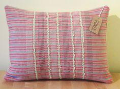 Handwoven Merino Wool Rectangular Cushion by WindItUpDesigns
