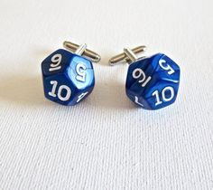 Dungeon and Dragons D10 Dice Cufflinks Cuff Links Role Playing Game RPG Wedding…
