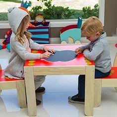 Labebe Kindersitzgruppe Apfel, mit Kreidetafel Vom Hersteller Labebe, gibt es diese wunderschöne Kindersitzgruppe mit Kreidetafel! Das massive Holz (Birke) ist sehr stabil und sehr gut verarbeitet worden. Zudem ist auf dem Kindertisch eine Kreidetafel aufgebracht, um die Kreativität der Kleinen zu fördern! Das Motiv und die Farben kommen echt noch besser herüber. Im Großem und …