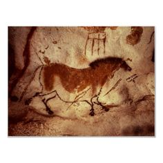 Rock Painting of a Horse, c.17000 BC | http://www.zazzle.com/rock_painting_of_a_horse_c_17000_bc_posters-228406059506793543?size=%5B31.9992%2C24.0000%5D=value_posterpaper_matte=114445276501626923=113381087925757000=1.3333=bridgemanart=238706427652551388