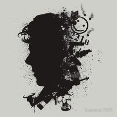 Available as T-Shirts & Hoodies, Stickers, and Kids Clothes Sherlock Holmes, Silhouette Design, Collage Art, Stencils, Pullover, Sweatshirts, T Shirt, Shirt Designs, Sherlock Background