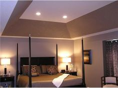 A tray ceiling is a rectangular or octagonal for Painting rooms with angled ceilings