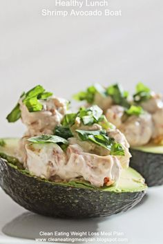Healthy Lunch: Shrimp Avocado Boat | Clean Eating Meal Plan | Easy and Cheap Healthy Meals | Weight Loss Meal Plan