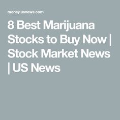 best marijuana stocks to buy 2020