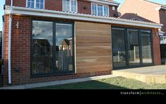 Lean-to extension contemporary cedar cladding Lean To Conservatory, Conservatory Extension, Conservatory Design, Residential Architect, Architect House, Rear Extension, Extension Ideas, Chill Out Room, Kitchen Diner Extension