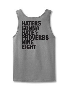 Haters - ChristianTank Top Standard Cut Our Standard Cut UnisexTank Topis a pre-shrunk tank that is perfect for men and women! Available in Small, Medium, Large, X-Large, and 2X-Large. ©2014Slingshot Publishing