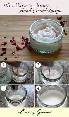 Wild Rose & Honey Hand Cream: recipe from scratch
