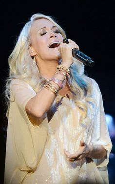 Carrie Underwood performing at the Royal Albert Hall in London