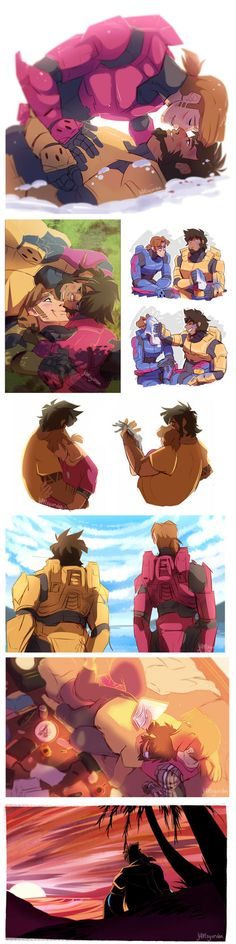 Red VS Blue - Grimmons Dump 3 by YAMsgarden Dont care for this ship but thats damn good art Tiger And Bunny, Red Vs Blue, Red Team, Rooster Teeth, Team Fortress 2, My Heart Is Breaking, Disney Style, Rwby, Red Roses