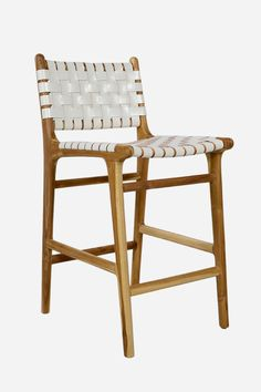 14. Leather Bar Stool with High Back (need to confirm if comes in counter height)