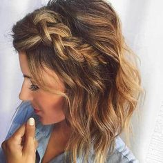 10 Chic Braided Short Hairstyles You Have To See: #1. Side Dutch Braid for Short Hair
