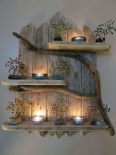 DIY Home Decor 697002479803680157 - Charming Natural Genuine Driftwood Shelves Solid Rustic Shabby Chic Nautical. in Home, Furniture & DIY, Furniture, Bookcases, Shelving & Storage Retro Home Decor, Easy Home Decor, Cheap Home Decor, Nature Home Decor, Rustic Decorations For Home, Wood Decorations, Trendy Home Decor, Modern Shabby Chic, Shabby Chic Homes