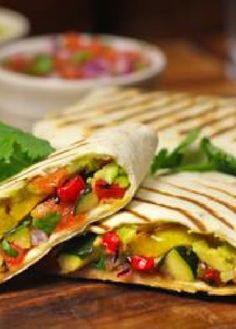 Low FODMAP Recipe and Gluten Free Recipe - Grilled vegetable wraps with salsa http://www.ibs-health.com/grilled_vegetable_wraps_salsa.html