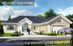 Projekt domu Willa parkowa 3 - wizualizacja frontu