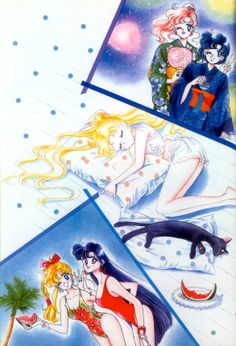Summer Dreams; from Bishoujo Senshi Sailor Moon Original Picture Collection, Vol. I   art by Naoko Takeuchi