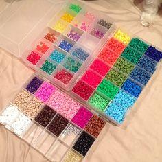 Pony beads storage organization by scarletsparkle
