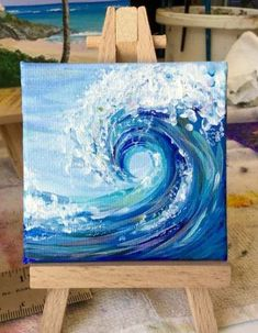 Painting acrylic ocean canvases ideas Painting acrylic ocean canvases ideasYou can find Painting ideas on canvas and more on our website.Painting acrylic ocean can. Cute Canvas Paintings, Small Canvas Art, Mini Canvas Art, Acrylic Painting Canvas, Mini Paintings, Wave Paintings, Ideas For Canvas Painting, Beach Paintings, Simple Acrylic Paintings