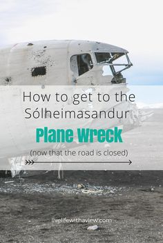 Now that the road to drive on the beach is closed, the only way to get there is to walk! It's 4km/45 minutes one way. Here is the route for the walk from the Ring Road to the abandoned plane wreck on Sólheimasandur beach in South Iceland | Life With a View